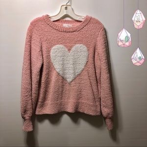 💕Lauren Conrad Pink Heart Sweater | Super Soft!